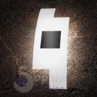 Lampada parte applique moderna design 55x20 cm vetro sfalsato bianco nero vano scala ingresso