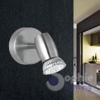Applique moderno LED spot orientabile faretto acciaio satinato bagno specchio