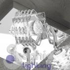 Plafoniera moderna 4 luci spot faretti orientabili design cristallo