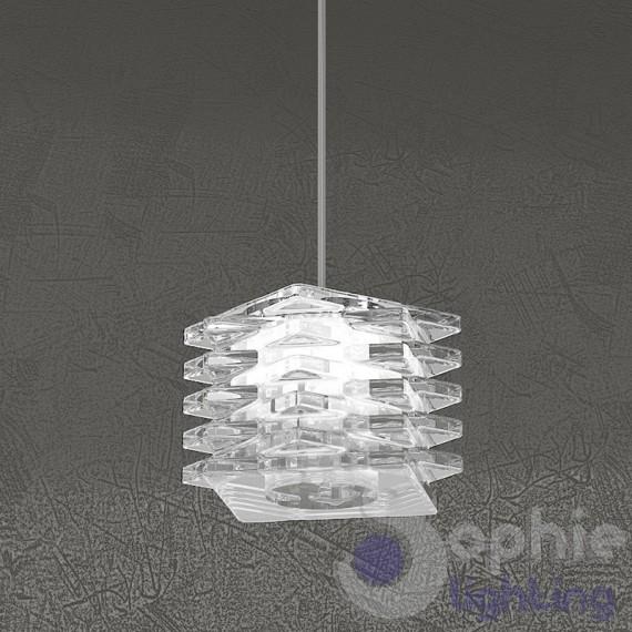 Lampada sospensione altezza regolabile design moderno cubo - Altezza tavolo cucina ...
