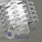 Applique lampada parete barra lunga 80 cm spot faretti orientabili cristallo cubo design moderno