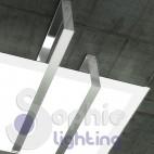 Plafoniera soffitto design moderno acciaio cromo
