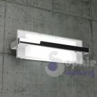 Lampada parete moderna metallo cromato design vetro bianco luce alto basso bagno ingresso