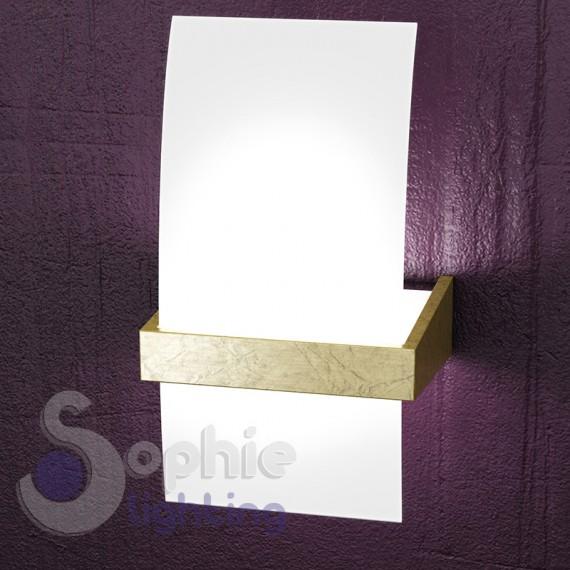 Applique moderno parete design vetro curvo bianco satinato - Applique parete design ...