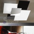 Plafoniera grande soffitto moderna acciaio cromato