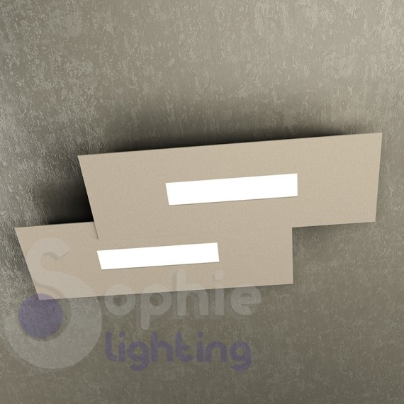 ... Lampada soffitto LED luce calda 20W design moderno tortora soggiorno