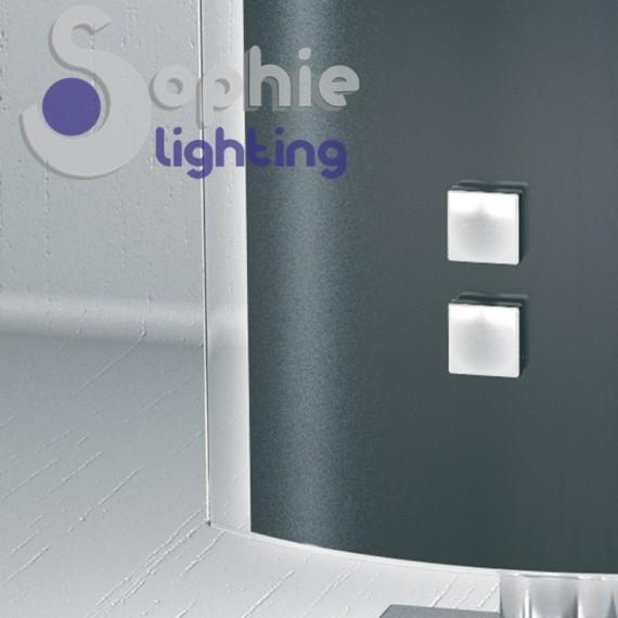Abat jour lampada design moderno vetro curvo nero base for Lampade da tavolo di design moderne
