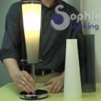 Lampada sospensione singola 1 luce vetro cilindro cono penisola tavolo