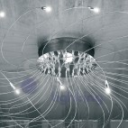 Plafoniera moderna led in acciaio cromato -1005-PL48