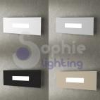 Lampada muro bianco design moderno LED 10W sostituibili vano scala