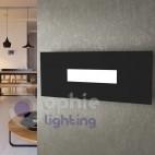 Applique nera moderna parete design LED 10W luce naturale soggiorno