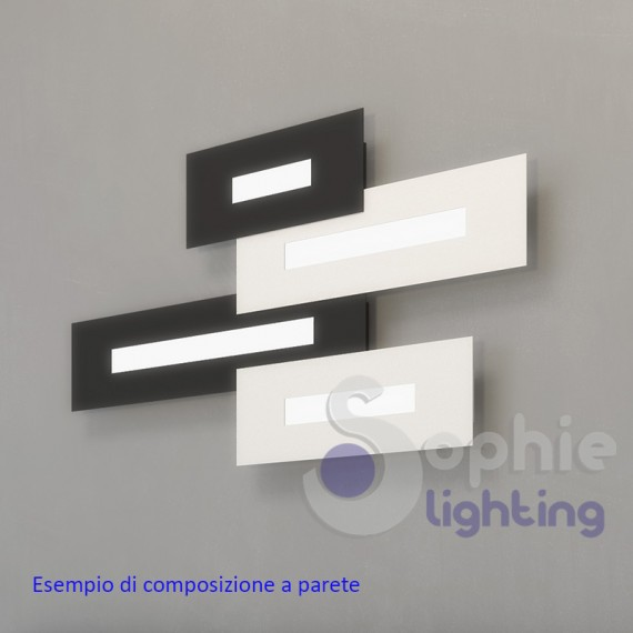 Applique nera moderna parete design led 10w luce naturale - Applique parete design ...
