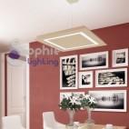 Lampada sospensione pannello led luce diffusa 92W luce naturale tavolo