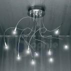 Lampada soffitto moderna led acciaio cromato-1005/PL10