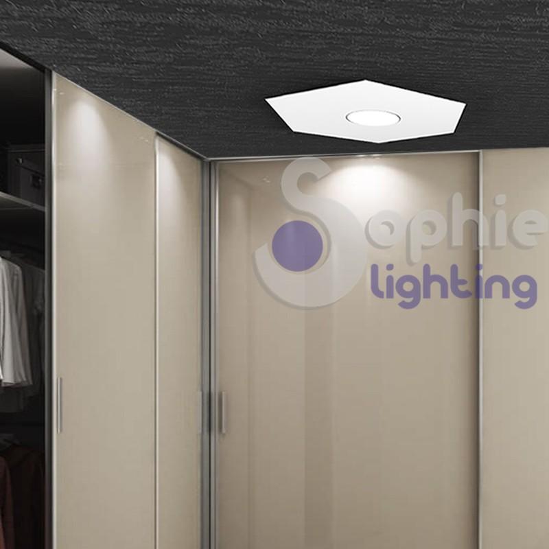Plafoniera componibile design moderno colori personalizzabili LED 9W