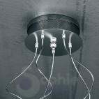 Plafoniera Led acciaio cromato moderna-1005/PL5