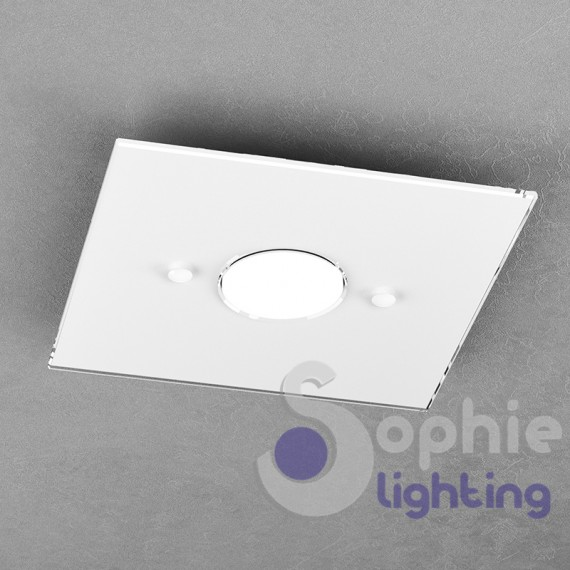 Faretto plafoniera led vetro bianco design lampade sostituibili cucina