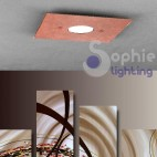 Faretto plafoniera LED design moderno 8 colori foglia rame luce fredda