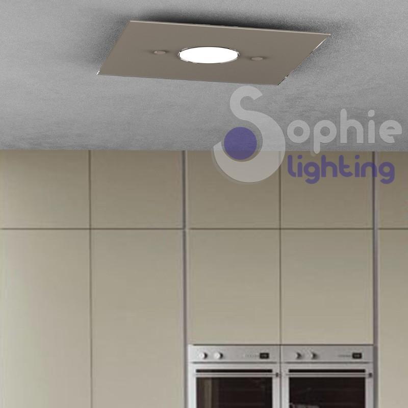 Lampadada faretto LED 7W vetro tortora design moderno cucina pensile