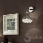 Applique design moderno vetro soffiato cristallo