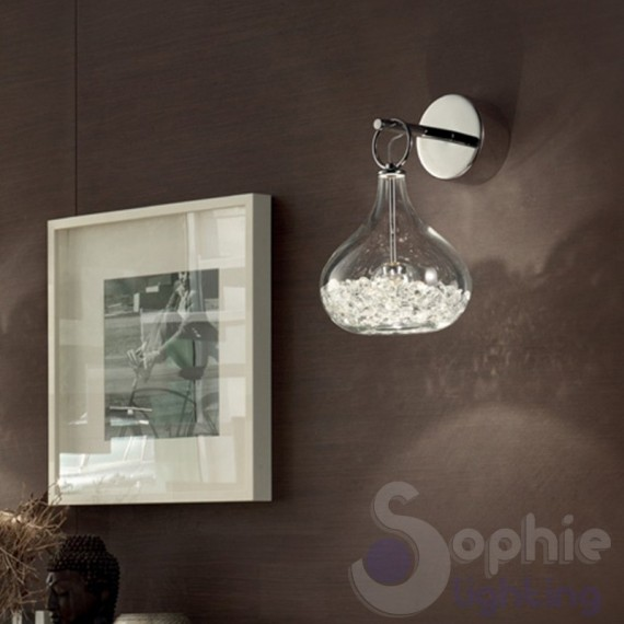 applique in vetro design moderno in oro : ... Applique Moderne Design > Applique design moderno vetro soffiato