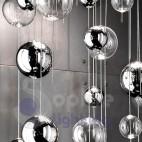 Plafoniera design moderno sfere vetro soffiato