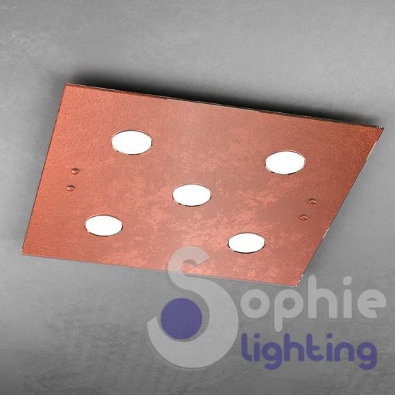 Pannello plafone led luce calda vetro foglia oro design for Led luce calda