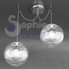Lampada sospensione altezza distanza regolabile globi decoro bianco