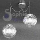 Lampada sospensione altezza distanza regolabille globi decoro bianco