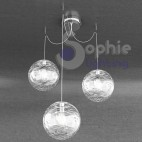 Lampadario bianco design moderno 3 luci LED cucina tavolo penisola