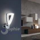 Applique moderna parete design vetro incrociato bianco grigio vano scala ingresso