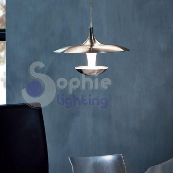 Lampada sospensione LED satinata design moderno cucina penisola tavolo