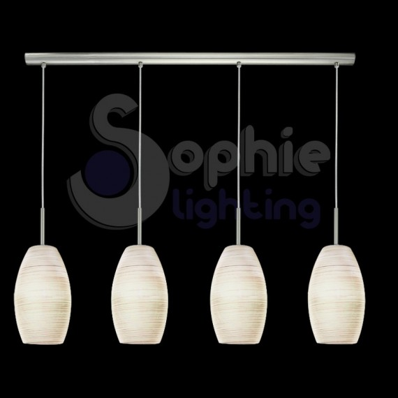 Lampada sospensione led 4 luci regolabile cucina - Luci led cucina ...