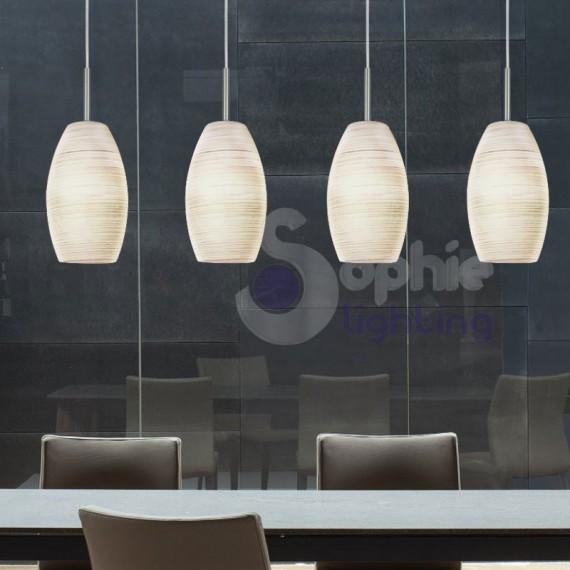 Lampada sospensione led 4 luci regolabile cucina for Piantane a led ikea