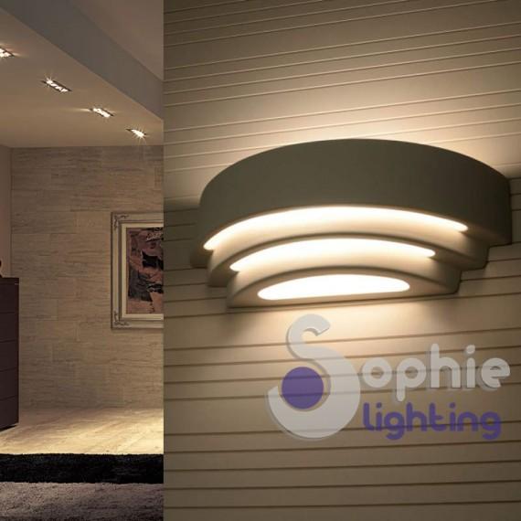 Applique moderna led 10w luce decorativa gesso - Scala decorativa ...