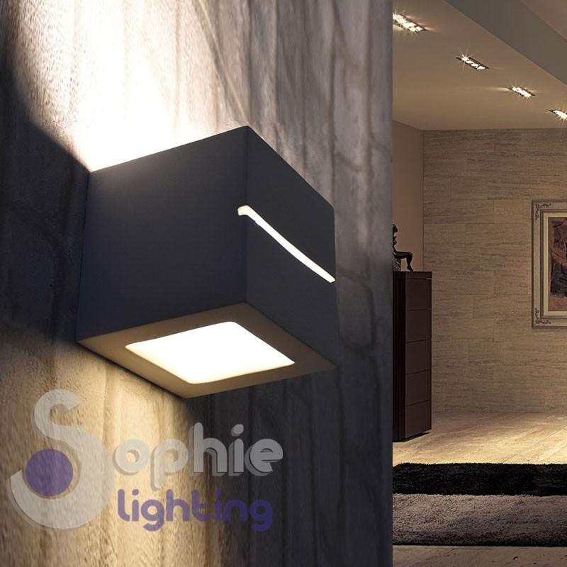 Lampada muro LED cubo luce decorativa alto basso verniciabile ingresso