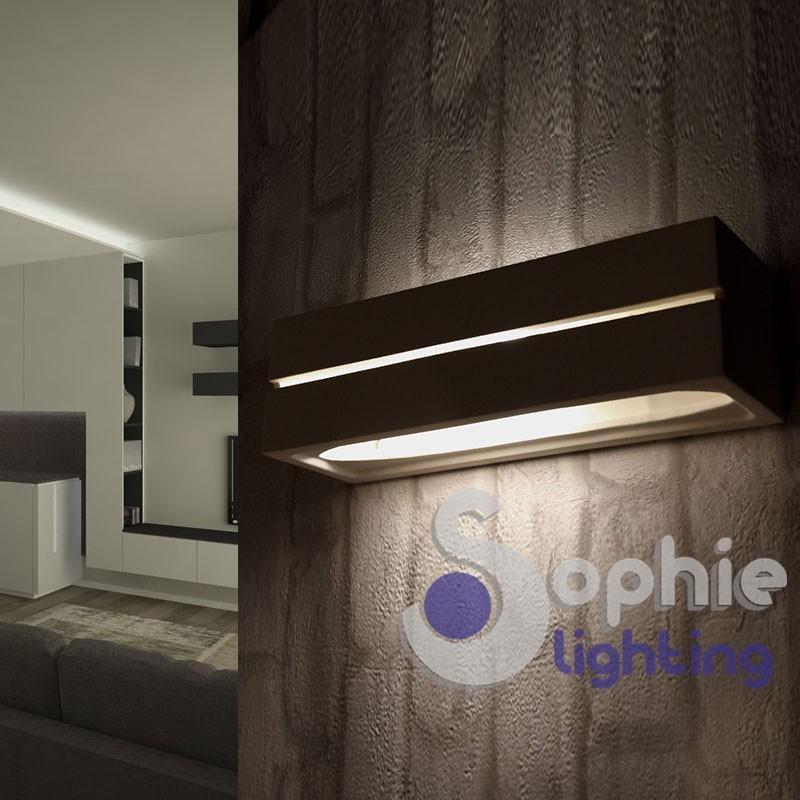 Lampada applique LED rettangolare illuminazione alto basso gesso bagno