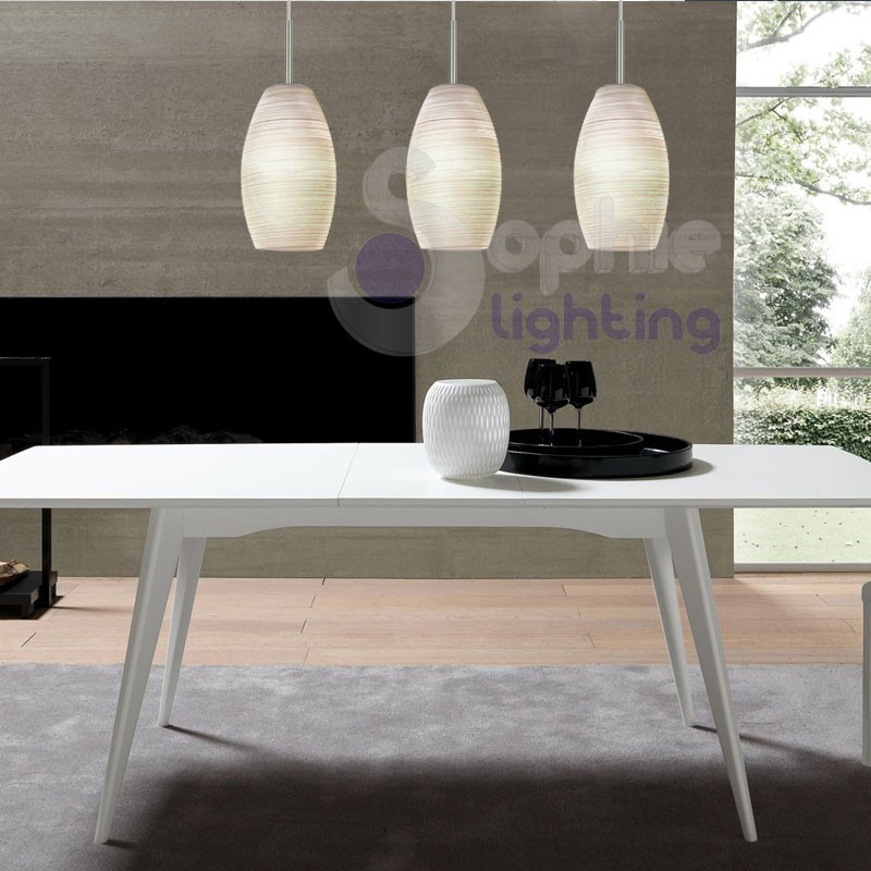 Lampadario sospensione 3 luci led penisola cucina - Illuminazione cucina moderna ...