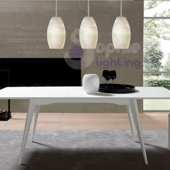 Lampadario sospensione 3 luci led penisola cucina - Ikea illuminazione cucina ...