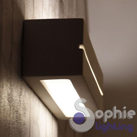 Lampada applique led rettangolare illuminazione alto basso gesso bagno - Applique led bagno ...