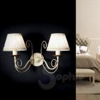 Lampada parete 2 luci classica argento oro