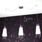 Lampada sospensione 3 luci moderna altezza larghezza regolabile cucina