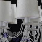 Lampadario 8 luci LED ferro battuto avorio shabby chic elegante salone