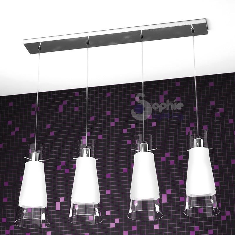lampadario sospensione 4 luci penisola cucina - Lampadari Cucina Design