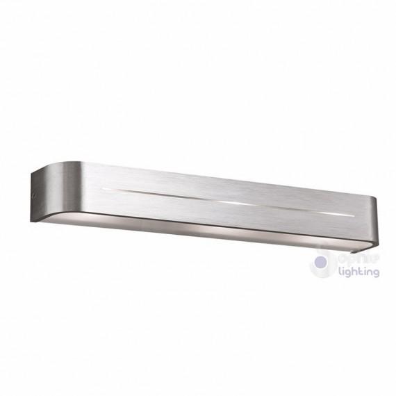 Lampada parete design moderno acciaio satinato