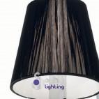 Applique 2 luci moderno paralumi neri