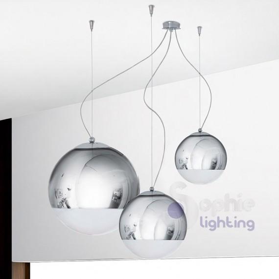Lampadario sospensione design moderno 3 luci - Luci sospensione design ...