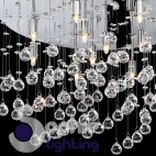 Plafoniera rotonda cristalli pendenti-MOONLIGHT-PL15