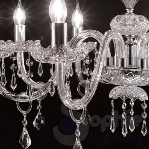 5 luci vetro di murano cristallo