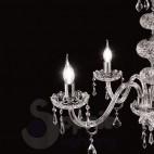 Lampadario 3 luci classico cristallo cromato